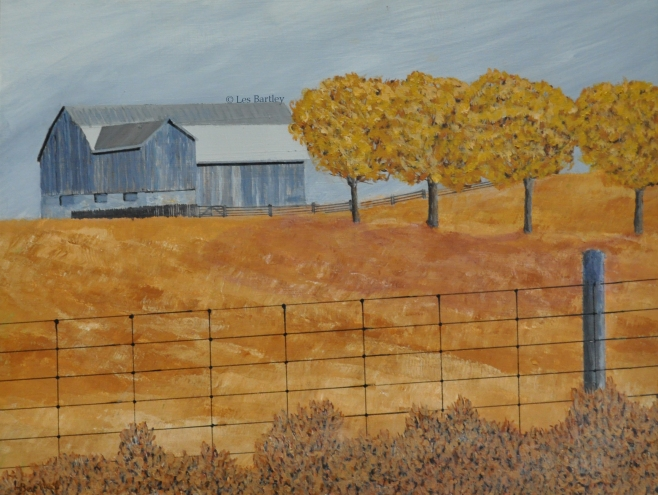 Autumn Barn - by Les Bartley
