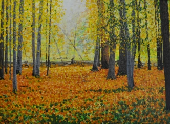 Fall Scene - by Les Bartley
