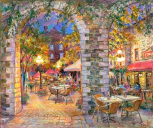courtyard-lights-20x24-Elena-Khomoutova