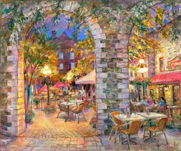 courtyard-lights-20x24-Elena-Khomoutova
