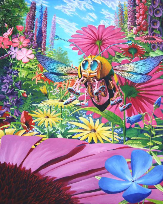 Bumblehover 24x36 oil on canvas